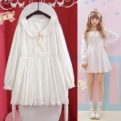 Find More Dresses Information about 2014 NEW Autumn/Fall Lace Lolita white dress Princess Pearl Cotton dress Fashion Cute Lovely dress for girls&women Free shipping,High Quality dress shirts new york,China dress sneaker Suppliers, Cheap dress abaya from PRO-G DEAL on Aliexpress.com