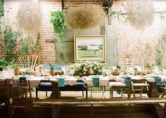 rustic western dinner party