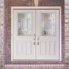 Elegant Fiberglass Double Entry Doors Prehung