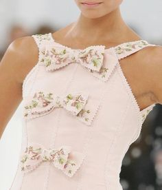 Chanel Haute Couture by DolceDanielle - if only the bottom bow was on this I would love it! Look Fashion, Fashion Details, Womens Fashion, Classic Fashion, Coco Chanel, Chanel Pink, Karl Otto, Girly, Chanel Couture