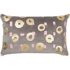 Velvet Circle Gold Foil Cushion