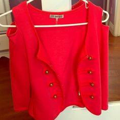 Red orange blazer Red orange blazer in size small. Only been worn once and it is very cute. Other