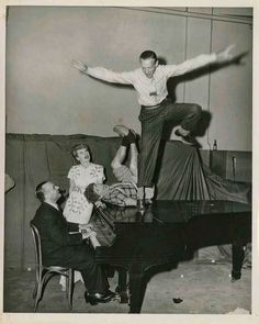 Fred Astaire with Lucille Ball and Harpo Marx