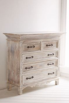 Slide View: 2: Padma Dresser White Washed Furniture, Distressed Furniture, French Furniture, Refurbished Furniture, Repurposed Furniture, Cheap Furniture, Rustic Furniture, Furniture Makeover, Painted Furniture