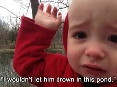 Gölette boğulmasına izin vermemişler :)