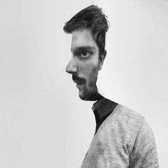 profile face forward