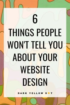 6 Things No one Is Telling You About Your Artist Website