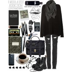 """""""I don't go out"""" by lithe-fae on Polyvore"""