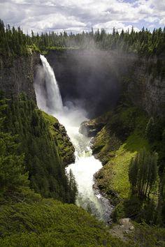 Helmcken Falls, Wells Grey Provincial Park, Canada. June 2015