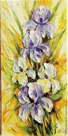 Oil Painting Flowers Art God Canvas Painting Grey Flower Painting Halo Canvas Art Marble Painting On Canvas Folk Art Flowers, Flower Art, Sculpture Painting, Painting & Drawing, Marble Painting, Texture Art, Texture Painting, Acrylic Painting Inspiration, Palette Knife Painting