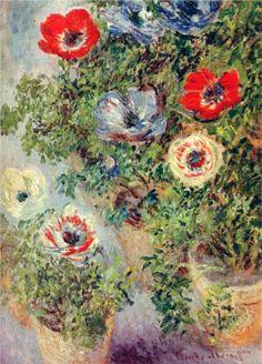 Still Life with Anemones, 1885 Claude Monet