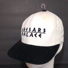 Las Vegas Caesars Palace Hat Corduory Brim Cap 1980's Made in USA NOS #CaesarsPalace #AdjustableBaseballCap