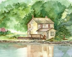 Home by the Lake by CountryRoadsStudio on Etsy, $15.00