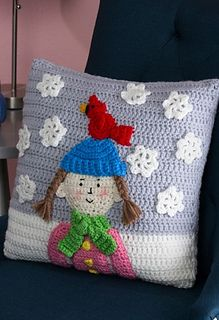 Snowy Day Pillow ~ free pattern ᛡ