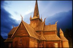 Lomdal Stavkirke Fa, Traditional House, Barcelona Cathedral, Norway, Culture, Building, Travel, Pictures, Viajes