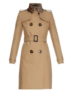 Leopard-print collar trench coat | Burberry Prorsum | MATCHESFASHION.COM UK