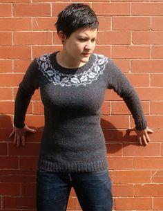 Ravelry: Whiteleaf pattern by Wool + Bricks Sizes for HIPS, narrows for upper hip, waist etc Jumper Patterns, Sweater Knitting Patterns, Knitting Designs, Knit Patterns, Love Knitting, Fair Isle Knitting, Knitting Yarn, Fair Isle Pattern, Knitting Magazine