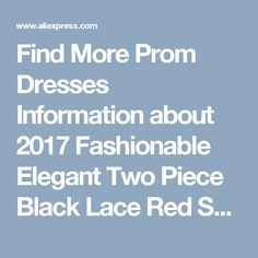 Find More Prom Dresses Information about 2017 Fashionable Elegant Two Piece Black Lace Red Satin Bridesmaid Dress Custom made Floor Length Two Pieces Wedding Party Dress,High Quality dress cherries,China dress up time prom dresses Suppliers, Cheap dress up modern princess from kejiadian brides Store on Aliexpress.com