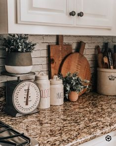 Peel and Stick Wallpaper – Brick Wallpaper Farmhouse Style Kitchen, Home Decor Kitchen, Home Kitchens, Kitchen Ideas, Country Kitchens, Kitchen Designs, Farmhouse Decor, Updated Kitchen, New Kitchen