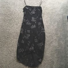 Black Floral Dress Beautiful long black floral dress. Never worn Byer California Dresses