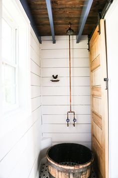 Free Range Custom Cottage - Tiny House for Sale in Eatonton, Georgia - Tiny House Listings Tiny House Shower, Tiny House Bathroom, Small Bathroom, Bathroom Ideas, Bathroom Showers, Bathroom Designs, Bathroom Layout, Modern Bathroom, Tiny House Listings