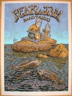 Pearl Jam & Band of Horses poster