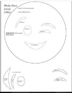 Emoji Pillow Tutorial with FREE pattern: sewing is optional
