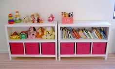 Need these shelves in both girls' rooms, the play room, my craft area and probably somewhere else, too.