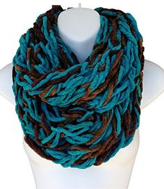 Handmade Chunky Arm Knit Chenille Infinity Scarf Cowl Teal Brown ShopAnniesCloset http://www.amazon.com/dp/B00NE1OF9Y/ref=cm_sw_r_pi_dp_lrjOub1QFQDR7