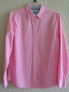Womens Pink Button Down Shirt Blouse TOMMY HILFIGER Size 12