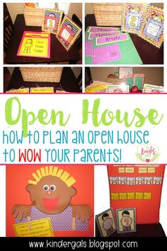 How to plan an open house to WOW your parents! Here are the ideas I used when teaching kindergarten!
