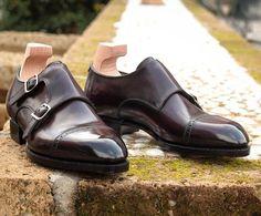 Leather Men's Classic Double Monk Strap Dress Shoes Slip On Shoes, Men's Shoes, Male Shoes, Dress Shoes, Double Monk Strap, Fashion Shoes, Mens Fashion, Penny Loafers, Vintage Men