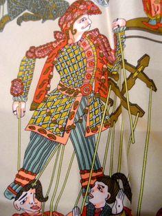 HERMES Tuch LE TEMPS DES MARIONETTES Silk ORIGINAL carré -90 x90  Scarf 379.-€ € 379,00