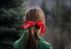 i had a lucky red ribbon that i wore to cheerleading tryouts every year in junior high and high scool Christmas Tree Farm, Green Christmas, Christmas Colors, Christmas Things, Christmas Wishes, Christmas Time, Moustaches, Scarlet, Heather Duke