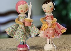 More cute clothes pin dolls. by patrice