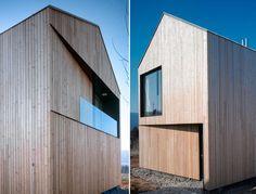 Moderne gevel in hout
