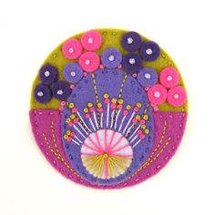 pretty handmade felt pin