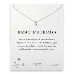 best friends cupid heart necklace, sterling silver $29.99