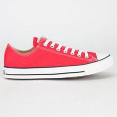 CONVERSE (RED) Chuck Taylor All Star Low Shoes Womens Converse Sneakers becf842b974e6