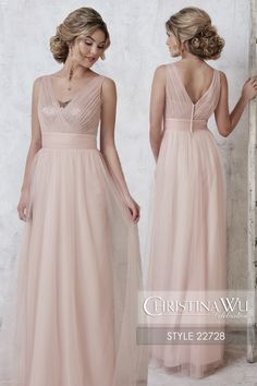 #ChristinaWuCelebration Style 22728 A full-length tulle gown with sequin underlay bodice, pleated waistband, and illusion v-neckline brought together by tulle straps. MATERIAL Tulle/ Sequins SILHOUETTE Semi A-Line NECKLINE Sweetheart COLOR Available In all tulle colors, sequins available in all sequins colors