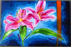 """Lily"" 20 x 30  #art #artist #oil #oilpainting #lily #flower #paint #painting #fineart #canvas #impressionism"