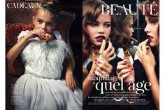 ファッション雑誌「ヴォーグ・パリス」の完全に仕上がっている子どもモデルたちの写真 - DNA
