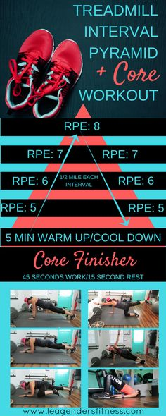 Treadmill Interval Pyramid + Core Workout — Lea Genders Fitness