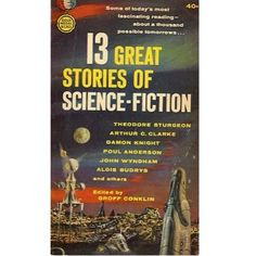13 Great Stories of Science-Fiction, 1962, vintage SF paperback #BOOK