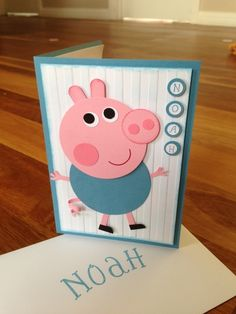 George Pig personalised card--George Pig personalised card:-) I also have done other samples of creations I've made on my Facebook page. Skye's Stampin' Up if anyone is interested in having a look:) (Skye Cook Facebook Stampin Up)