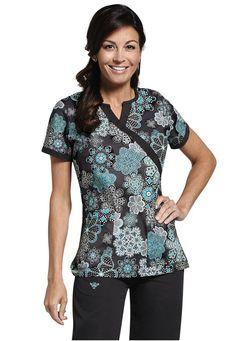 Med Couture Becca Creative Approach print scrub top. #scrubs #uniforms #nurse