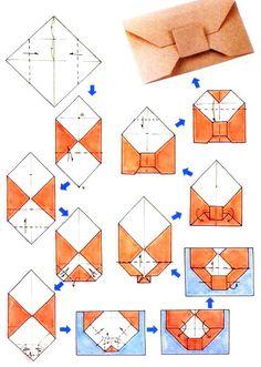 Diagramme d'origami d'enveloppe nœud papillon  (Chine-culture.com)