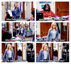 Leslie Knope is forever my spirit animal. Parks And Rec Memes, Parks And Recs, Parks And Recreation, Parks Department, Tv Shows Funny, Leslie Knope, Love Park, Tough Day, How I Met Your Mother