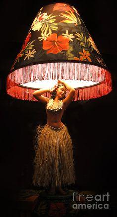 Hula Girl Lamp - perfect for a tiki bar.