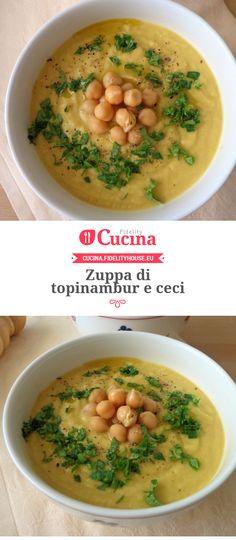 Zuppa di topinambur e ceci